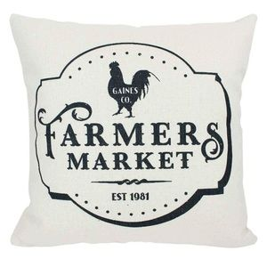 NWOT Rustic Farmers Market Accent Pillow Cover